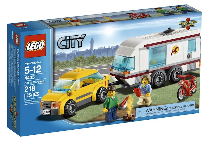 LEGO Town Car and Caravan Set