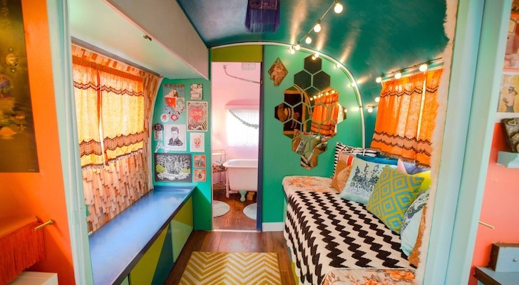 This Couple's 1976 Airstream Trailer Has A Completely Unique Interior Design