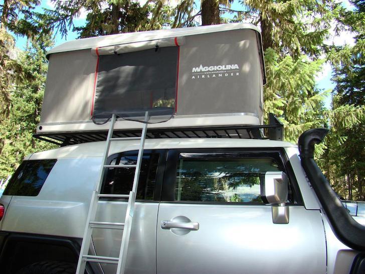 Maggiolina AirLand setup at campsite