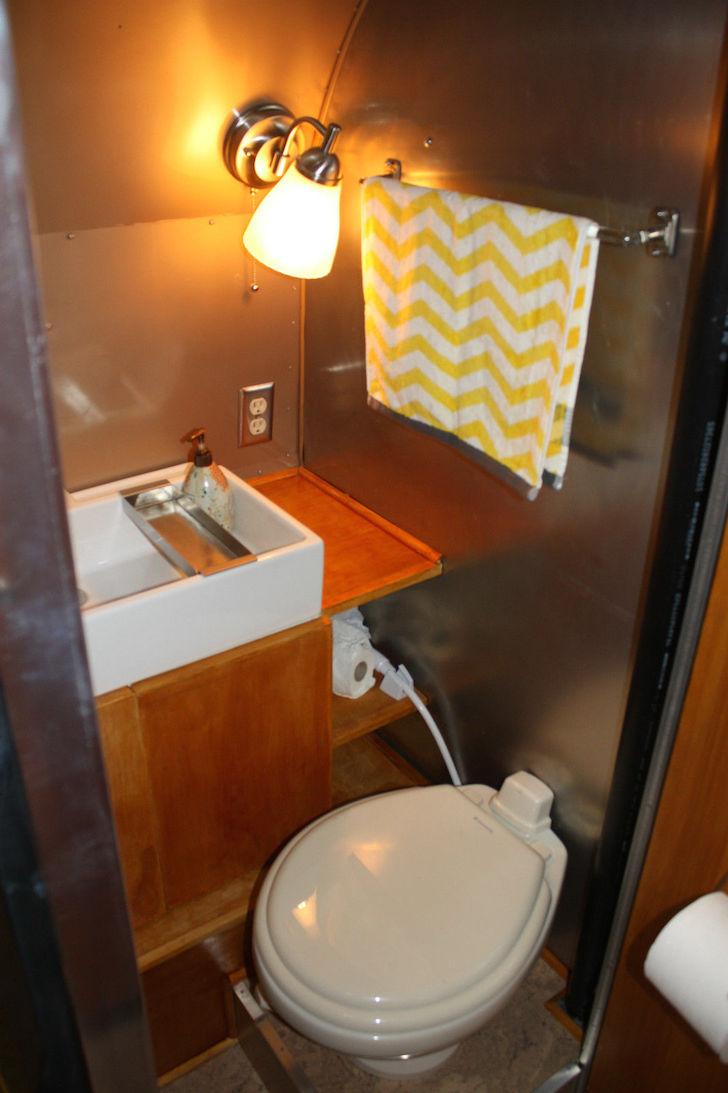New bathroom inside an old closet