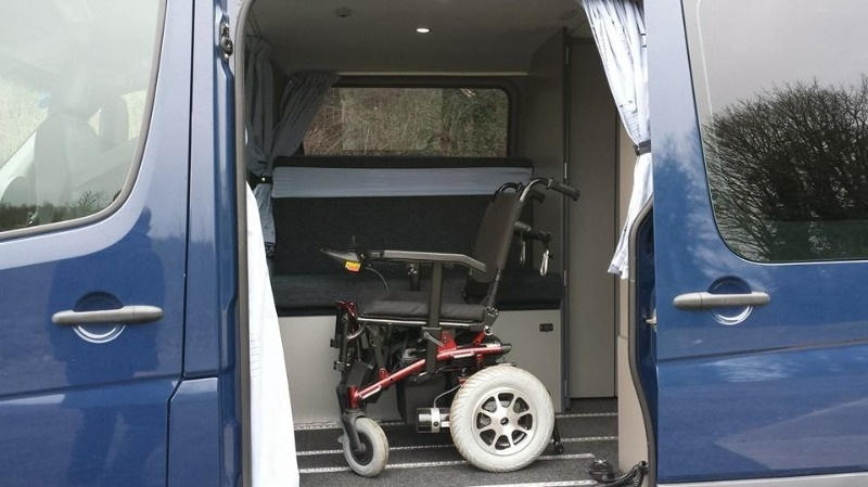 Plenty of room for the wheel chair