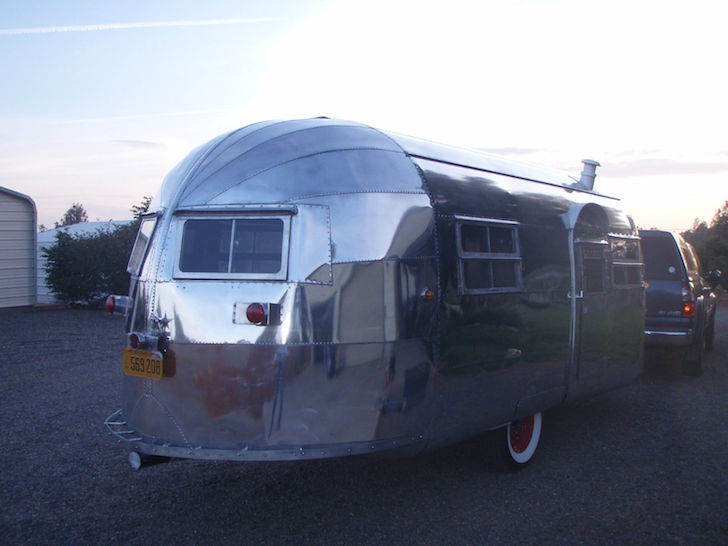 Rear of a 1948 Curtis-Wright trailer