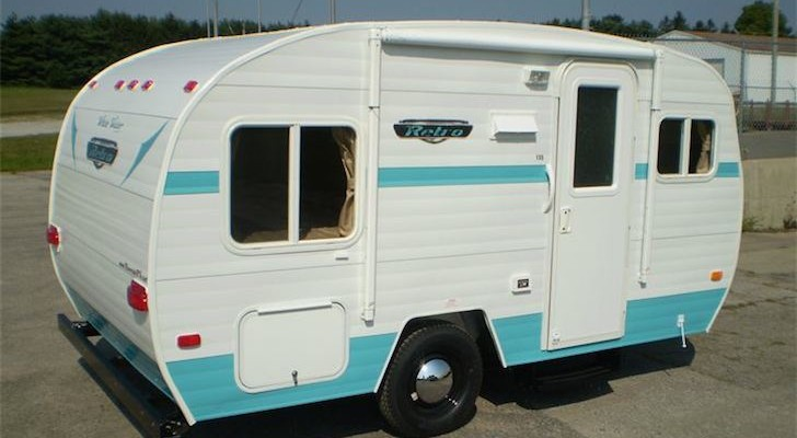 Looking For An Alternative To The 1961 Shasta Airflyte Reissue? Check Out The Model 155 'White Water' From Riverside RV.