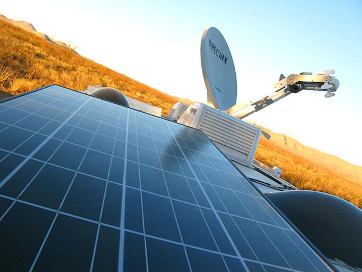 Solar panels on an RV