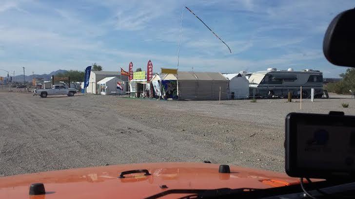 Tents at Quartzite, Arizona
