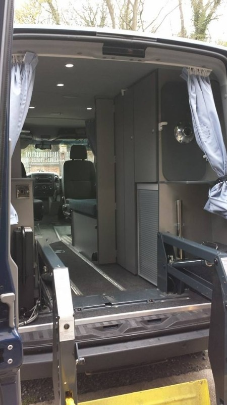 The Sprinter has a rear loading dock