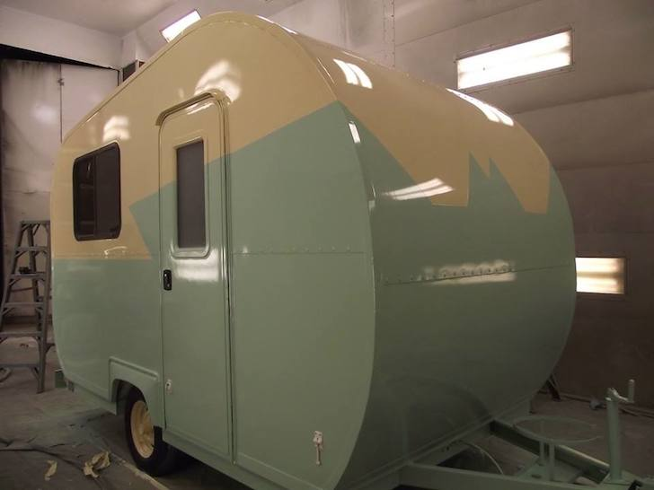 This popup camper turned into a beautiful custom trailer