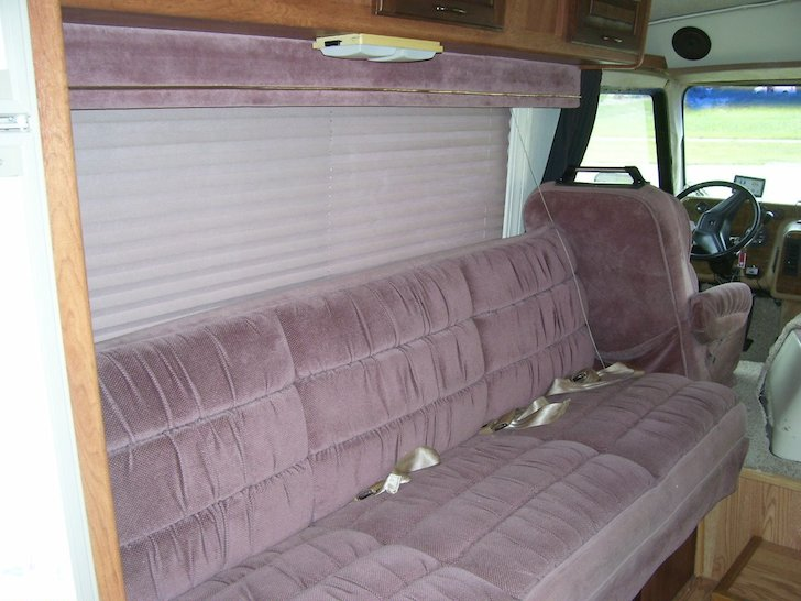 This sofa looks quite similar to the one in a GMC Motorhome