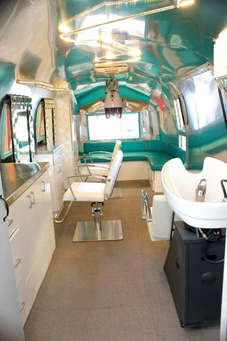 Vintage Airstream trailer with modern interior