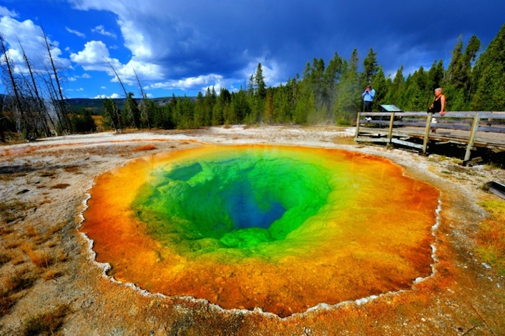 Yellowstone Morning Glory Pool in the Old Faithful Area