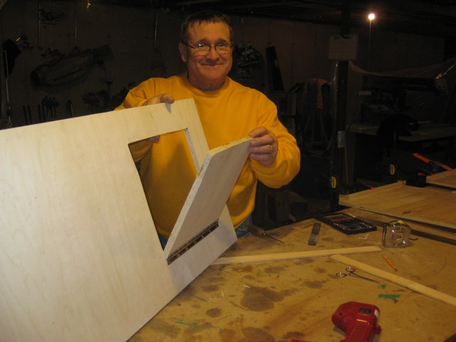 Building the storage box was a family affair, this is Joe's dad, Ron