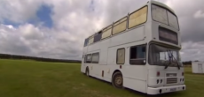 Double-decker bus turned into a home