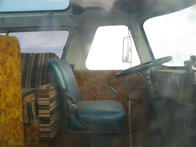 Driver's side of a Flxible bus