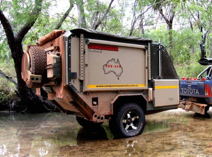Extreme off-roading with a Conqueror 440 trailer
