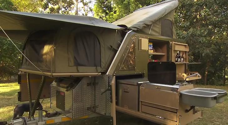 Fully-deployed Conqueror trailer