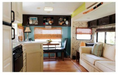 This Canadian Couple Turned A 144 Square Foot 5th Wheel Into A Gorgeous Tiny Home
