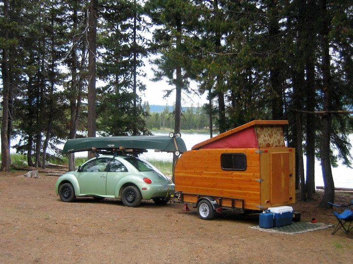 Here Is A Self Made Pop Up Camper Built From Douglas Fir