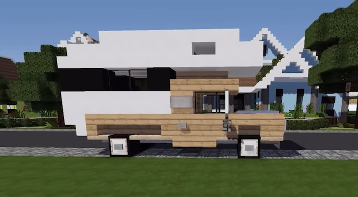 How to build a truck camper in Minecraft