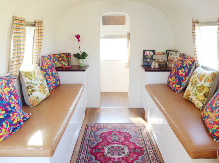 Inside a beautifully renovated vintage Airstream named Peggy Sue