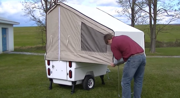 Kompact Kamp Mini Mate motorcycle trailer almost setup