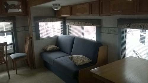 Laura and Chad's trailer before the renovation
