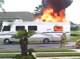 Motorhome Goes Up In Flames In Subdivision