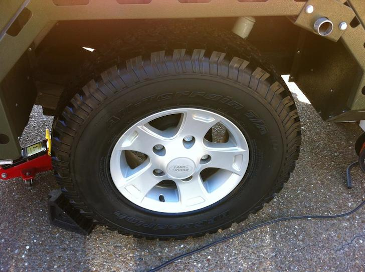 New BR Goodrich tires on a Conqueror Commander trailer