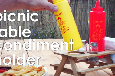 How To Make Your Own Picnic Table Condiment Holder