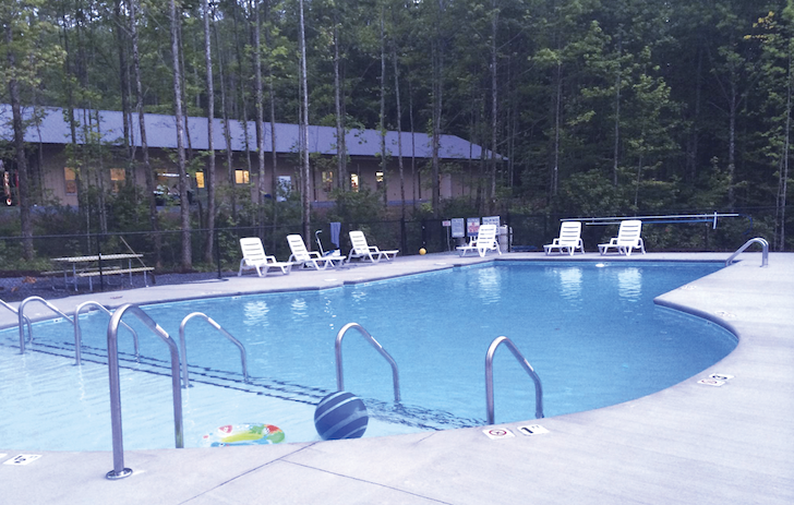 Pool at Smokey Mountain RV resort