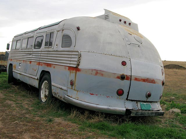 Rear of an old Flxible bus