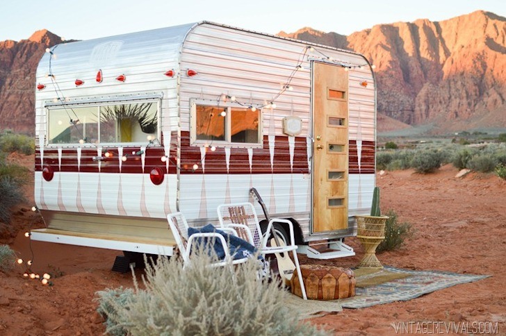 Renovated 1973 Bell travel trailer from Vintage Revivals