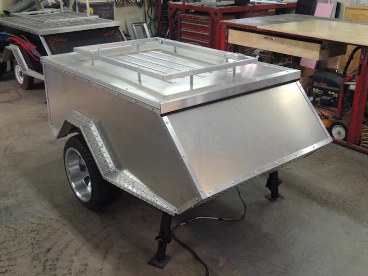 Roadmen motorcycle camper before paint and graphics