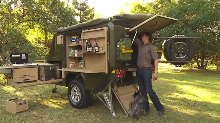 Setting up the Conqueror Australia 440 camper