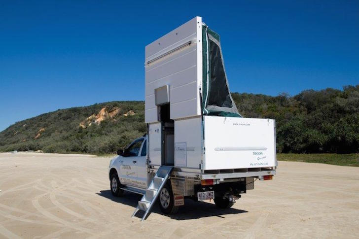 Setting up the camper is simple and easy