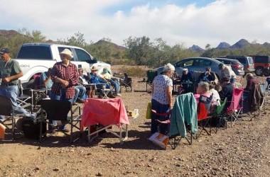 Single's Cookout in Quartzsite, Arizona