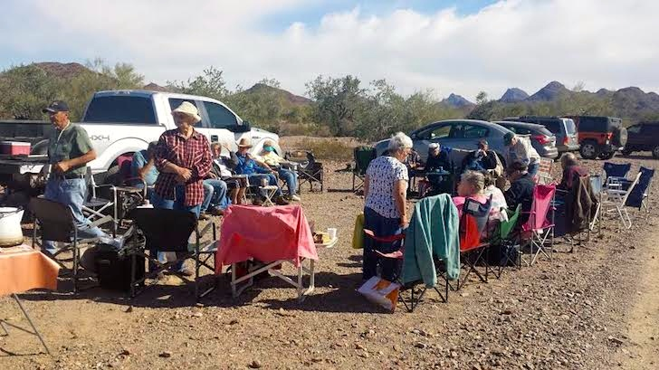 Single's Cookout in Quartzsite, Arizona