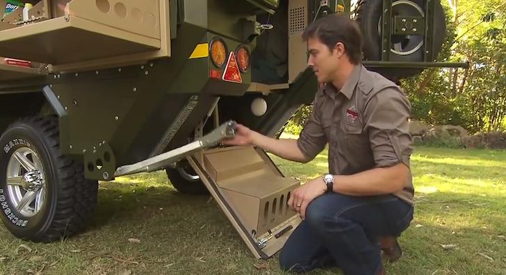 Stabilizers on a Conqueror 440 camper trailer