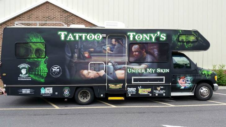 Tattoo Tony's mobile tattoo parlor