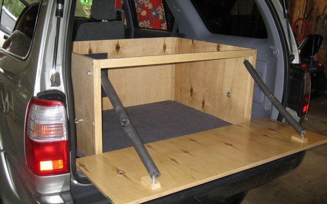 How To Add A Hidden Rear Storage Compartment To An SUV Camper