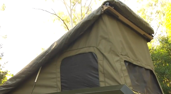 The roof also features gas-assisted struts for quick setup in the field