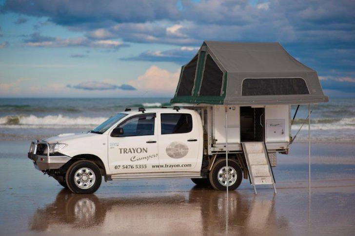 Trayon Dual Cab camper with tent