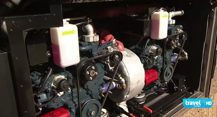Twin generators in Willie Nelson's tour bus