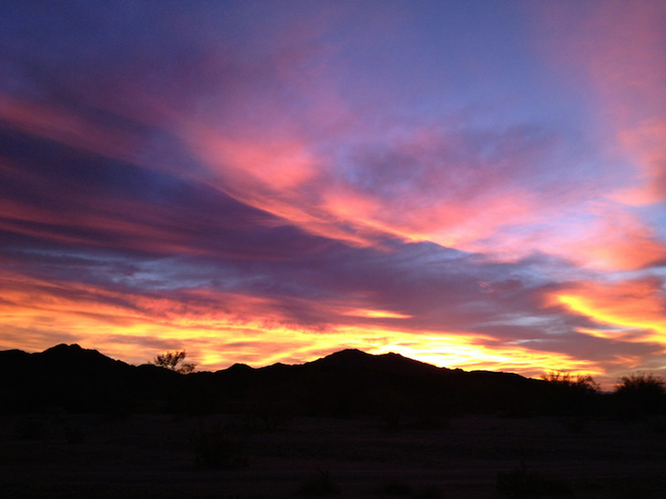 Beautiful sunset in the desert Southwest