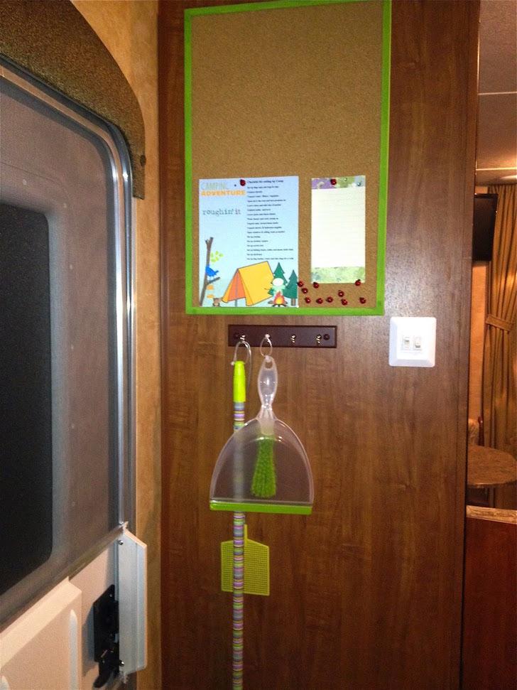 Bulletin board and hooks