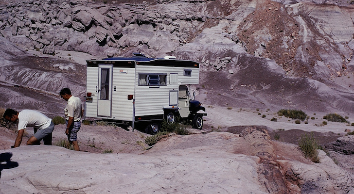 This Rare CJ5 Jeep Camper Got Into Some Serious Trouble In The Petrified Forest 45 Years Ago