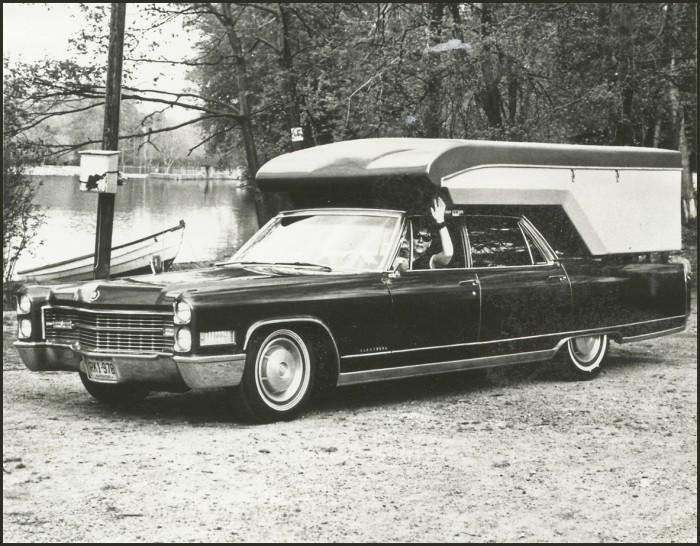 Cadillac Fleetwood piggyback camper