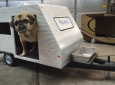 Camper dog house for Buddy