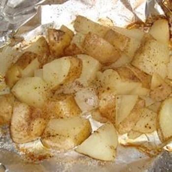 Campfire onions