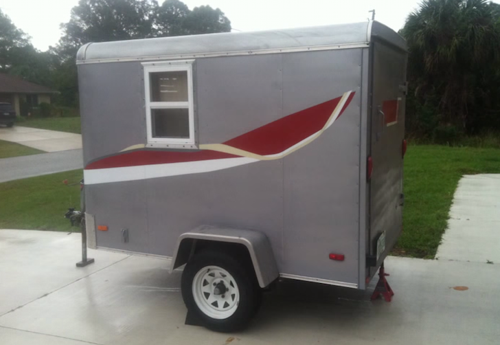 5 Foot By 8 Foot Cargo Trailer Converted Into Small Camper