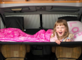 Child sleeping in the Cabbunk